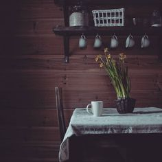 A quiet afternoon tea. Slow Living, Getting Cozy, Afternoon Tea, Tea Time, In This Moment, Flowers, Home, Ad Home, Homes