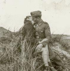 German soldier and Dutch woman in the dunes, Netherlands, between 1941 and 1944