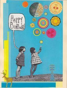Handmade Birthday Card - Fishbowl Card - Birthday Fishes - BLANK ...