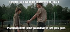 The Walking Dead's Sheriff Rick Grimes shares some helpful DIY Home Improvement Tips about what crops to plant in the field