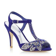 Roland Cartier Ladies MONTORI - Embellished Jewel Heeled Sandal - blue   Dune Shoes Online