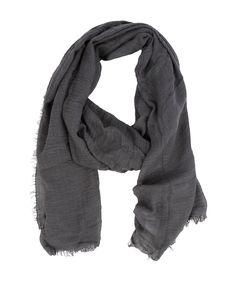 Fray Crinkled Scarf Dark Grey - Jenterommet Grey Scarf, Crinkles, Dark Grey, Fashion, Moda, Fashion Styles, Fashion Illustrations