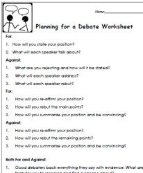 short class debate template handout my worksheets pinterest template students and worksheets. Black Bedroom Furniture Sets. Home Design Ideas