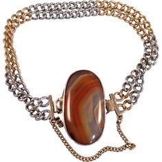 Edwardian Scottish Carnelian Bracelet, Circa 1900-10
