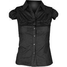 Gothic button-down shirt for women, from the Queen of Darkness clothing line.