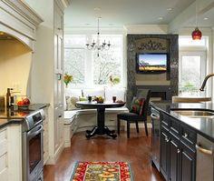corner breakfast nook design idea - contemporary kitchen decor vancouver