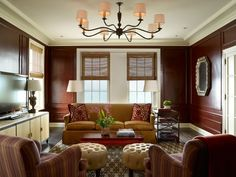 Lake Shore Drive Pied-a-terre Family Room #TomStringerDesignPartners #TSDP