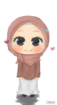Muslimah Chibi by wafflerp on DeviantArt Couple Cartoon, Cartoon Pics, Cartoon Art, Emoji, Emoticon, Muslim Pictures, Hijab Drawing, Islamic Cartoon, Anime Muslim