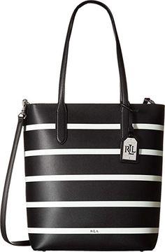 LAUREN Ralph Lauren Women s Dryden Alexis Tote Black Vanilla Stripe One  Size designer handbags spring handbags handbag fashion handbag ideas  expensive ... f27ea8ffedc70