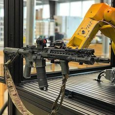 The future is now Led Monkey approved ———————————————————————— ・・・ ・・・ Even robots choose Aero Precision. Credit to : When you weaponize the the robot arm at work. Tactical Rifles, Firearms, Shotguns, Bcm Rifles, Tactical Survival, Airsoft Guns, Weapons Guns, Guns And Ammo, Armas Airsoft