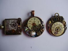 Pendants made from old part of clocks & watches!