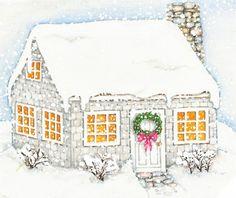 winter cottage -- Susan Branch