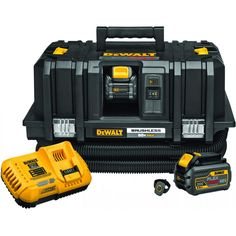 Running off of the FLEXVOLT® battery, the cordless Dust Extractor is an efficient and portable way to achieve OSHA Table 1 compliance on the jobsite. This product features Wireless Tool Control™ with remote, allowing the user to activate Dewalt Cordless Tools, Dewalt Power Tools, Cordless Hammer Drill, Hose Storage, Hepa Vacuum, Dust Extractor, Oscillating Tool, Mechanic Tools, Electronic Recycling