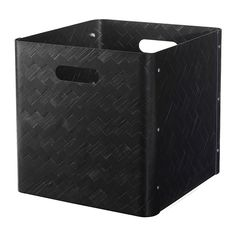 IKEA BULLIG Box Black 32 x 35 x 33 cm A flexible, stackable storage solution that helps you keep everything from magazines to clothes close at hand.