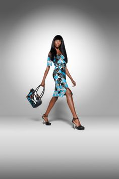 From the archive: a party look from Vlisco's 2011 'Dazzling Graphics' collection…