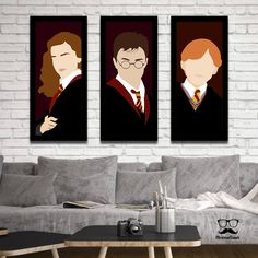 """Another collection inspired by the wizarding universe. Only """"muggles"""" who don't buy! Collection with 3 posters inspired by the Harry Potter saga . Harry Potter Anime, Harry Potter Canvas, Harry Potter Painting, Harry Potter Tumblr, Pintura Do Harry Potter, Arte Do Harry Potter, Harry Potter Drawings, Harry Potter Room, Disney Canvas Paintings"""