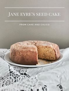 This time it is. I've been reading and watching Jane Eyre for the past few days, and I fell in love with it. I mean I thought Jane Eyre w No Bake Desserts, Delicious Desserts, Dessert Recipes, Yummy Food, Seed Cake, Second Breakfast, Eat Seasonal, Jane Eyre, Cake Ingredients