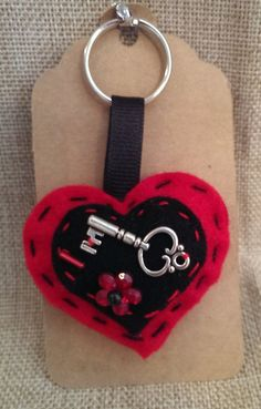 Hey, I found this really awesome Etsy listing at https://www.etsy.com/listing/189628619/heart-shaped-felt-keychainkeyring