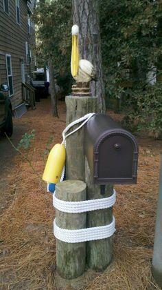 nautical mailbox | Nautical mailbox in VA Beach, Pelican Dunes area.