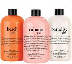 philosophy girls of summer shower gel trio