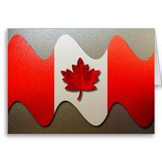 Canada Flag-Chrome Greeting Card.