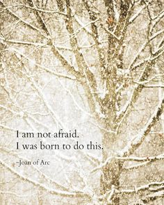 Joan of Arc Quote Winter Snow Winter Woodlands Magical Falling Snow Snowstorm Snowscape Abstract Nature Photography, Fine Art Print – quote Great Quotes, Quotes To Live By, Me Quotes, Inspirational Quotes, Qoutes, Motivational, Joan Of Arc Quotes, I Am Not Afraid, Never Stop Dreaming
