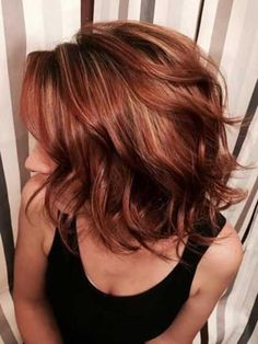 Brunette Red Lob Hair-1
