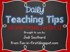 Daily Teaching Tips
