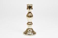 Castiçal Dourado 24,8 cm | A Loja do Gato Preto | #alojadogatopreto | #shoponline | referência 27965117