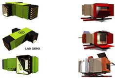 Modular cargo container housing concepts--I'm crazy for container housing. Can't…