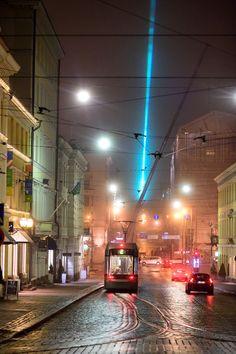 Tram in the beautiful foggy Helsinki. Photo by Vilhelm Sjöström - via Flickr.