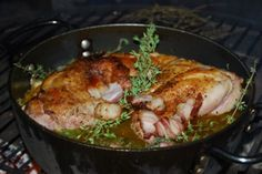 Dutch Oven Braised Rabbit Recipe,  finally something to do with the rabbit at the PX.