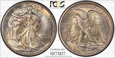 """One of collector Gerald Forsythe's favorite coins, this 1935 Walking Liberty half dollar graded PCGS Secure Plus MS68 can be seen in person at the PCGS """"Walker Showdown"""" during the 2012 ANA World's Fair of Money in Philadelphia.  (Photo courtesy of PCGS.)"""