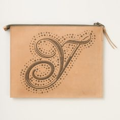 #custom #Cute Themed #gifts #hearttravelpouch #esoticadesigns -  Monogram Y Leather Travel Pouch