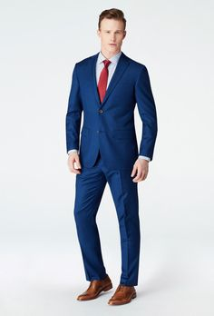 On the hunt for an understated statement-maker? Look no further than the Chiswick Micro Check, a pattern designed to provide texture and movement to your more traditional solids through a subtle, small windowpane pattern. Wedding Men, Wedding Suits, Wedding Attire, Wedding Stuff, Wedding Dress, Fashion Suits, Mens Fashion, Bright Blue Suit, Navy Fabric