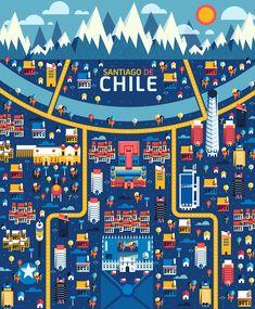 Aldo Crusher - Cosmópolis Pt. 3 - Santiago de Chile map