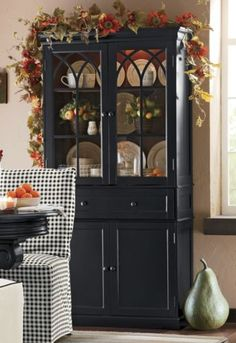 Love the hutch and the floral on top