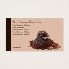 276 best chocolate business cards images on pinterest in 2018 yummy chocolate theme professional business card colourmoves