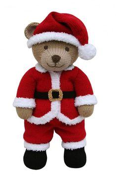 Best 11 Santa Suit Outfit (Knit a Teddy) Knitting pattern by Knitables Teddy Bear Knitting Pattern, Knitted Teddy Bear, Baby Knitting, Teddy Bear Patterns Free, Baby Hat Knitting Patterns Free, Animal Knitting Patterns, Doll Patterns Free, Free Pattern, Crochet Santa