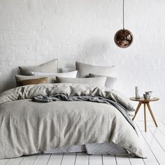 Home Republic Vintage Washed Linen Current - Bedroom Quilt Covers & Coverlets - Adairs online