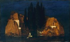 1880, Island of the Dead by Arnold Böcklin - Arnold Böcklin painted five versions of Island of the Dead between 1880 and 1886. The image became one of the most beloved motifs in late nineteenth-century Germany, widely known through poor color reproductions and a freely adapted etching of the 1890s.  The Metropolitan Museum owns the second version of Island of the Dead, which was commissioned by Marie Berna when she visited Böcklin in his Florence studio in April 1880. She was struck by the…