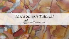 The Polymer Clay Mica Smash Technique is a fun combination of the Watercolor Technique and the Dragon Scale Mica Shift. I show a version with plain colors and another with a skinner blend.
