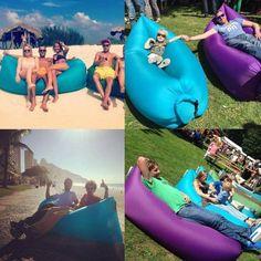 CAMTOA Aufblasbare Matte Luftmatratze Lounger Sofa Schlafsäcke,Compression Air Bag aufblasbarer Sessel,für Strand Garden Pool Sofa Blau: Amazon.de: Sport & Freizeit