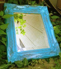 Vintage Ornate Mirror in Muted by ElizabethLaneBoutiqu on Etsy, $55.00
