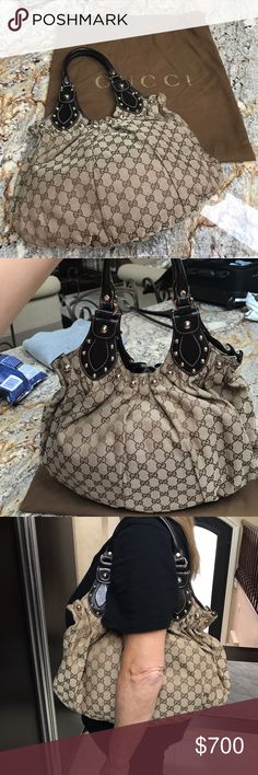 Gucci Pelham Medium Studded Shoulder Bag Gucci Pelham Medium Studded Shoulder Bag IN GREAT CONDITION - no stains or scratches! Worn a maximum of 5 times! 😊 ALL OFFERS CONSIDERED Gucci Bags