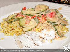 Fisch mit Zucchini - Tomatensauce, ein schönes Rezept aus der Kategorie Fisch. Bewertungen: 13. Durchschnitt: Ø 4,0.