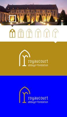 Abbey Royaucourt - Brand identity on Branding Served Corporate Identity, Visual Identity, Brand Identity Design, Branding Design, Building Logo, Logos, Event Poster Design, Hotel Logo, Clever Logo