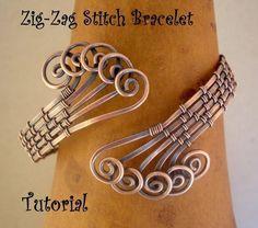 ZigZag Stitch Bracelet TutorialStep by Step by julidadesigns, 4.50