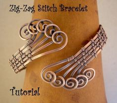 ZigZag Stitch Bracelet TutorialStep by Step by julidadesigns, $4.50
