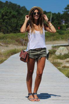 Hakei top, Zara shorts, The Code bag.